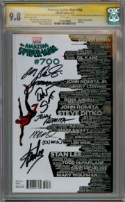 Amazing Spider-man  #700 Martin Variant CGC 9.8 Signature Series Signed x7 Stan Lee comic book